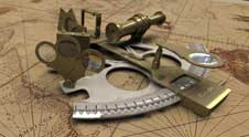 Stock photo of a sextant. Credit: Flickr via