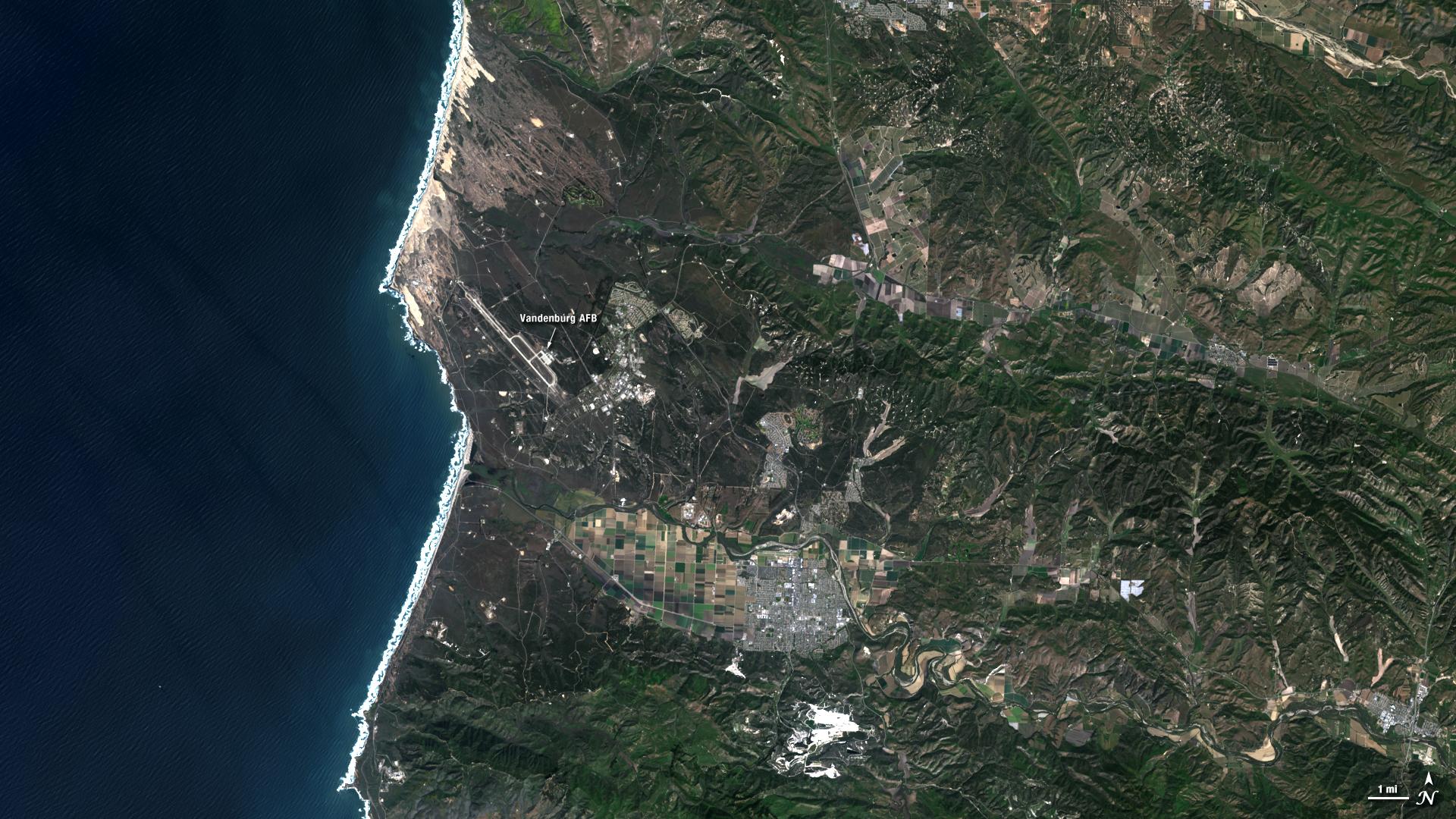 LDCM Satellite Sees Its Birthplaces NASA - Satellite view
