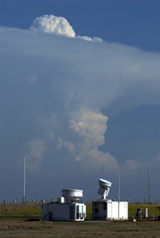 Storms over the cloud radars during the Mid-latitude Continental Convective Clouds Experiment. This experiment from April 22 to June 11 was part of the GPM missions ground validation program, where teams of scientists take very detailed measurements of rainfall and storm systems on the ground and co