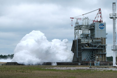 A new record was set on April 4 for J-2X engine test firings, when the engine was fired for 570 seconds on the A-2 test stand at Stennis.
