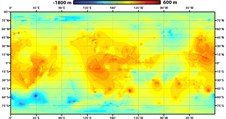 Global topographic map of Titan