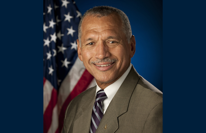 A portrait of NASA administrator Charles Bolden.