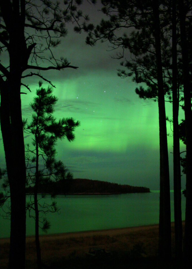 Aurora as seen in Marquette, Michigan on May 18, 2013.