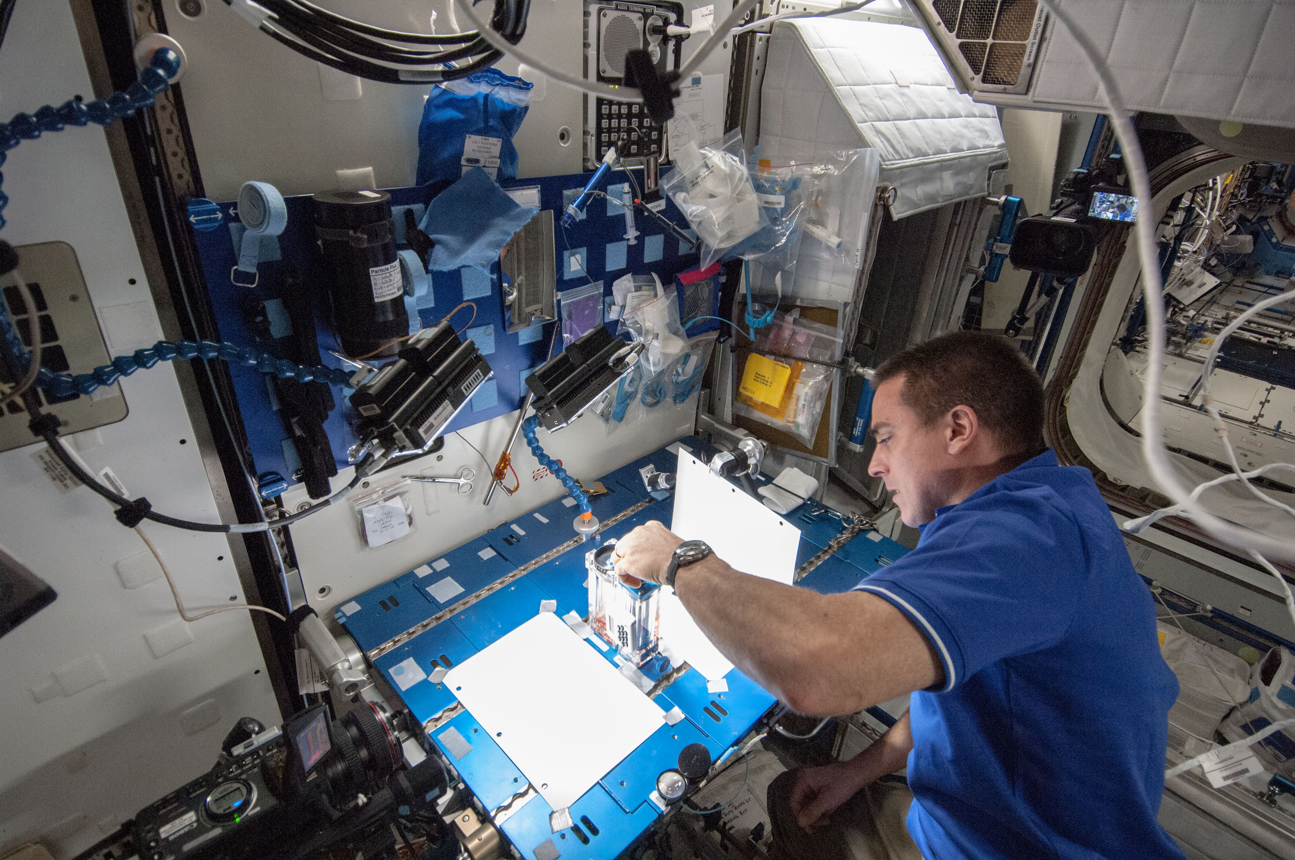 Robotics Workstation in the International Space Station's Cupola ...