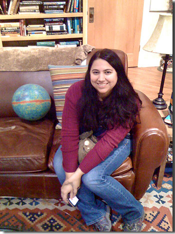 Photo of Maggie Masetti on the set of the Big Bang Theory