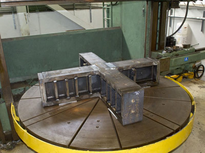 Fabrication is underway on a 7,755-pound thrust frame adapter to be installed on the A-1 test stand at NASA�s Stennis Space Center. The new adapter is needed to enable testing of RS-25 rocket engines, which will be used to provide core-stage power for NASA�s new Space Launch System.