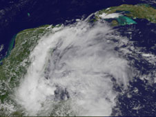 GOES image of tropical depression 2