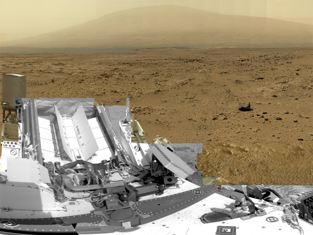Billion-Pixel View From Curiosity at Rocknest, Raw Color   NASA