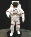 Self standing mockup shuttle EVA spacesuit on base