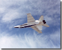 Modified F/A-18A evaluated during first check flight