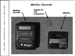 Minidisc comparison to quarter
