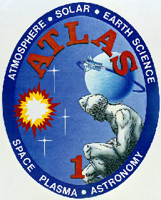 Emblem that was designed to represent the ATLAS-1 payload.