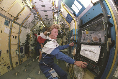 Astronaut Jan Davis, now vice president and deputy general manager of Jacobs Engineering, Science, and Technical Services (ESTS) group supporting Marshall, worked inside the Spacelab-J module in space shuttle Endeavour during STS-47 in 1992.
