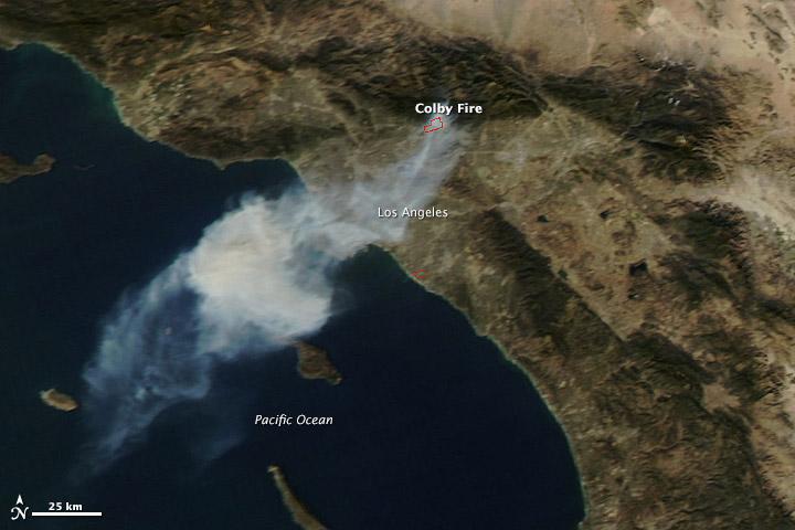 Colby Fire Near Los Angeles, California | NASA