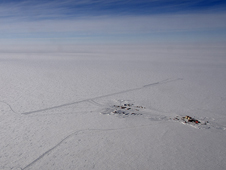 French-Italian research base Concordia Station at Dome C, one of the Antarctic Ice Sheet's highest points.