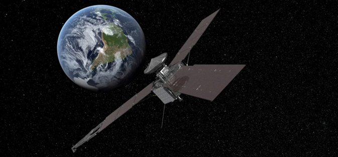 Artist's concept of Juno's Earth flyby