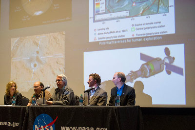 "Mars and Beyond"" during the MAVEN public viewing event at the U.S. Space & Rocket Center on Nov. 18."