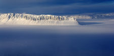 Eureka Sound on Ellesmere Island in the Canadian Arctic seen during the Mar. 25, 2014 IceBridge flight.