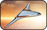 Illustration of gas-electric hybrid aircraft