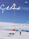 Goddard View cover - balloon launch in Antarctica