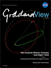 Goddard View cover showing orbit model