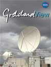 Goddard View cover showing satellite dish