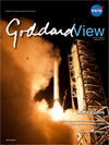 LADEE launch on cover of Goddard View