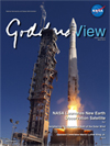 Goddard View cover showing LDCM launch