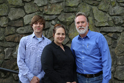 Marshall astrophysicist Dr. David Hathaway, right, and co-authors Lisa Upton, center, a graduate student at Vanderbilt University; and Owen Colegrove, an undergraduate at the University of Rochester.