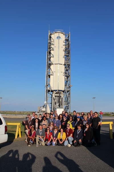 The NASA Social participants at the Wallops Flight Facility the day before the launch.