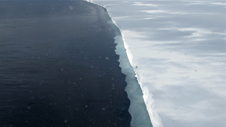 Edge of the Ross Ice Shelf seen from the NASA P-3 on the return flight from McMurdo Station on Nov. 28, 2013.