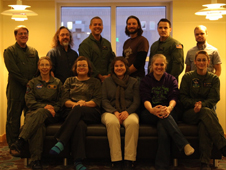 A photo of the LVIS team in Thule, Greenland, shortly before heading back to NASA's Wallops Flight Facility in Virginia.
