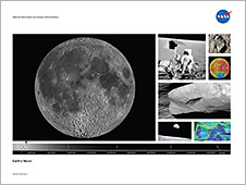 Front of the Earth's Moon lithograph