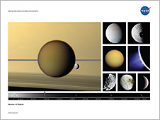 Front of the Moons of Saturn lithograph