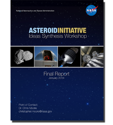 Cover image of the asteroid workshop report.