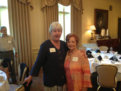 More than 100 retired team members from NASA's Marshall Space Flight Center -- including former employees Mary Harris, left, and Patsy Parmer -- gathered at The Ledges in Huntsville for a Marshall Retirees Association luncheon Sept. 5.