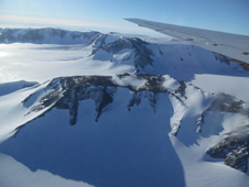The mountains of Antarctica's Shackleton Range seen during IceBridge's survey of Recovery Glacier on Oct. 25, 2014.