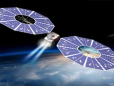 Artist concept of Solar Electric Propulsion