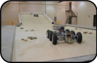 Rover in SLOPE test bed