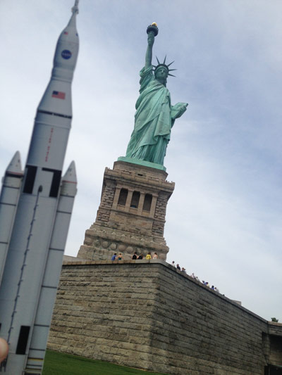 The SLS visits Lady Liberty in New York City.