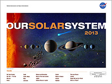 Front of the Our Solar System lithograph