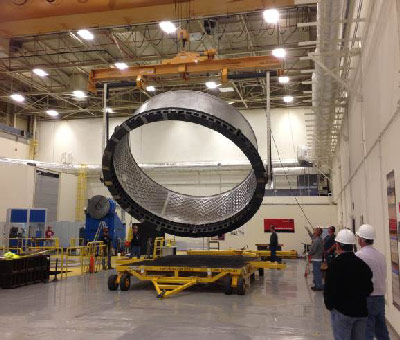 In May, engineers at the Marshall Center flipped an adapter furthering progress toward Exploration Flight Test (EFT)-1 in 2014.