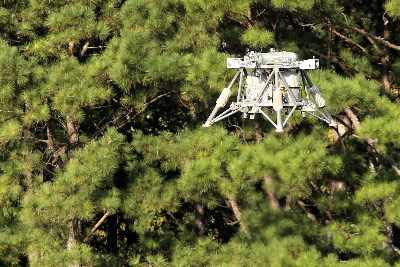 The Mighty Eagle, a NASA robotic prototype lander managed at Marshall, successfully completed a test flight in September as part of a series to help validate software from Moon Express Inc.
