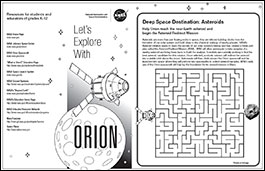 orion activities and coloring sheets for kids  nasa orion activities and coloring sheets for kids lets explore