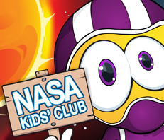 Colorful graphic for NASA Kids' Club
