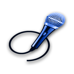 A microphone and swirling cord