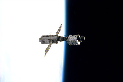The Russian Zarya module, left, was the first element of the International Space Station to be launched 15 years ago on Nov. 20, 1998. The Unity node, right, the first U.S. space station element launched Dec. 4, 1998. Both were joined together on Dec. 6 marking the first assembly step in space station construction. Unity was built in advanced manufacturing areas at NASA's Marshall Space Flight Center.