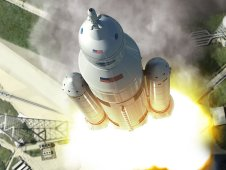 Artist concept of SLS Launch