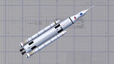 Artist concept of the SLS wireframe design.