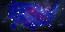 Partners & Suppliers in America text written over a U.S. map with stars representing partner and supplier locations